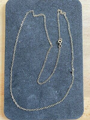"""9ct Gold Fine Trace Chain 18"""" Long • 10.50£"""