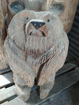 Sussex Chainsaw Wood Carving Bear Home Or Garden Rustic Sculpture Decoration • 120£