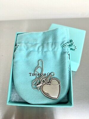 $76 • Buy Tiffany & Co. Medium Heart Pendant Necklace 925 Silver 16  Free Shipping