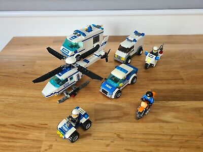 Lego City Police 7 Vehicles Bundle Helicopter Bike ATV Vans 9 Mini Figures  • 10.50£
