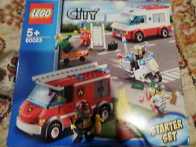 LEGO 60023 City Starter Set - Traffic Fire Engine Ambulance Police Bike (NEW) • 29.99£
