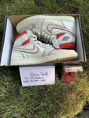$170 • Buy Nike Air Jordan 1 Retro High OG  Phantom  Sail  Red 555088-160 Size 11.5