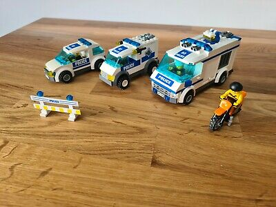 Lego Police Bundle Car Dog Van Prison Transporter Dirt Bike 5 Mini Figures  • 0.99£