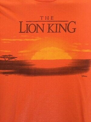 AU9 • Buy BNWT Junk Food Urban Outfitters Lion King T-shirt, Orange, Ladies 8-10 XS RRP$39