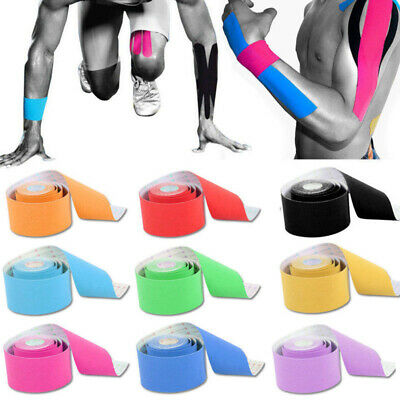5M Athletic Muscle Tape Kinesiology Physio Strapping Waterproof Sport Body Knee • 1.89£