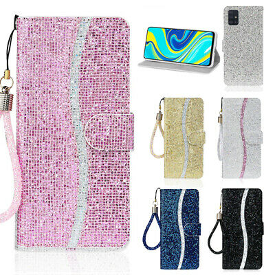$ CDN6.56 • Buy For Samsung Galaxy A51 A71 A21 A70 Glitter Leather Flip Wallet Phone Case Cover