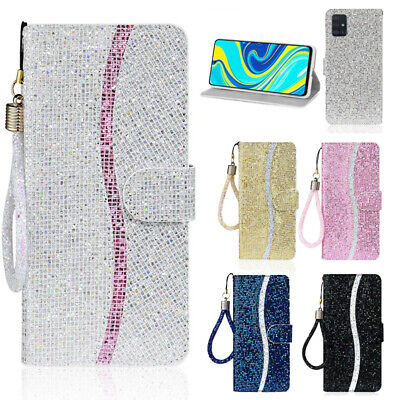 $ CDN6.69 • Buy For Samsung Galaxy A51 S20 Note 10 Plus Glitter Leather Card Wallet Case Cover
