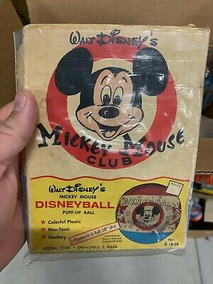 £283.19 • Buy RARE Vintage Mickey Mouse Club Disneyball Puff-Up Ball In Original Box