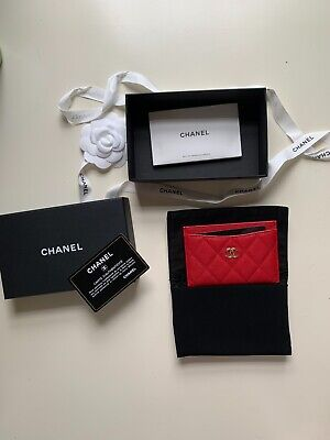 AU640 • Buy Chanel Lipstick Red Caviar Flat Card Holder