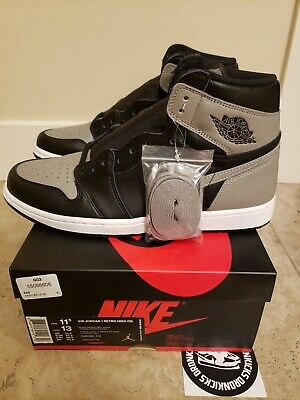 $439.99 • Buy Jordan 1 High OG Shadow 2018 Sz 11.5 DS New Black Grey Nike Air OG All Authentic
