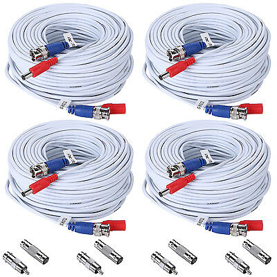 AU33.91 • Buy ANNKE 4x 100ft 30M BNC Video Power Cables Wires For CCTV Security Camera System