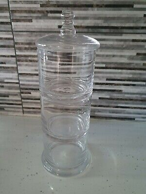 Home Collection 3 Tier Decorative Glass Sweet Candy Buffet Jar 29cm X 10.5cm • 17.95£