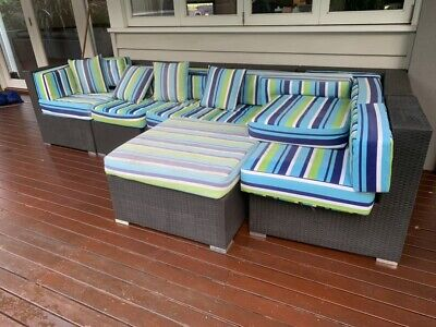AU300 • Buy 7 Piece Outdoor Sofa Set Lounge Setting Wicker Couches