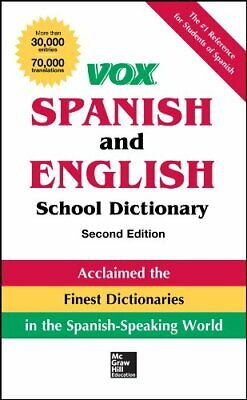 Vox Spanish And English School Dictionary, Pape. Vox<| • 17.75£