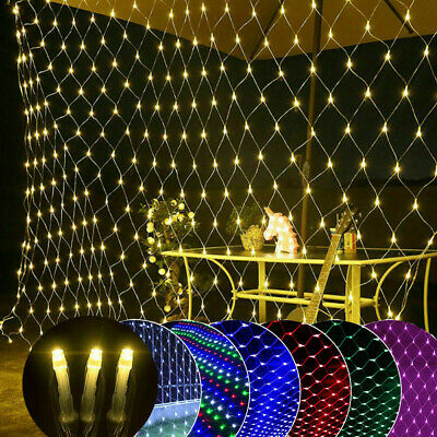 LED Mesh Net Curtain String Fairy Lights Christmas Tree Wedding Party Outdoor • 7.99£