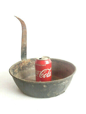$ CDN58.13 • Buy 1800's ANTIQUE Hand Hammered Tinned Deep Copper Pot Pan - WROUGHT IRON Handle