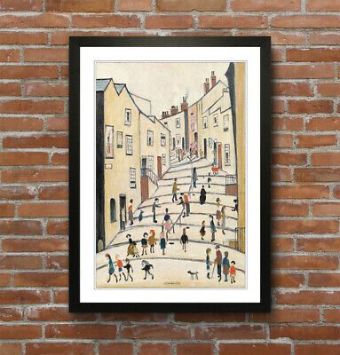 LS Lowry Crowther Street People FRAMED WALL ART PRINT ARTWORK PAINTING 4 SIZES • 14.99£