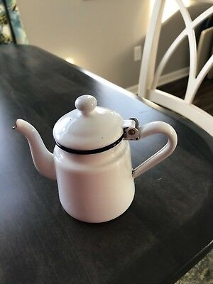 $52.99 • Buy Vintage Salesman Sample Enamel Teapot-rare