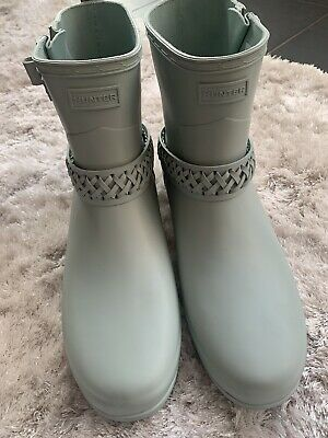 Women's Authentic Short Hunter Wellies, Size 9 Adults Rare RRP £115 • 39.99£