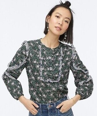 $43.99 • Buy NEW J CREW Ruffle Sleeve Popover Blouse Liberty Mixed Franklyn Floral XL AE842