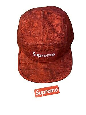 $ CDN101.24 • Buy Supreme Croc Red Box Logo Camp 5 Panel Cap Hat