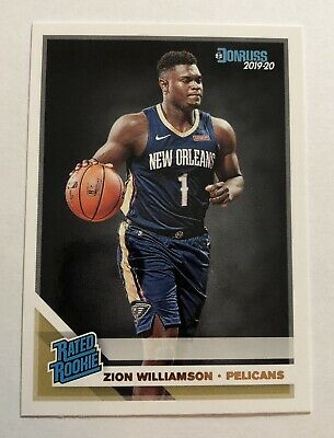 $45 • Buy 🔥 2019-20 Donruss Rated Rookie Zion Williamson RC #201 🔥 Pelicans