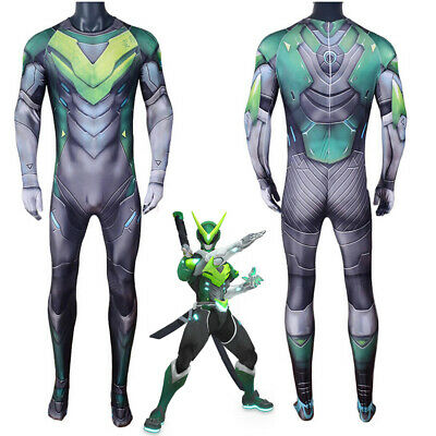 $ CDN47.96 • Buy Game OW Genji Costume Cosplay Bodysuit Jumpsuit For Kids Adult Womens
