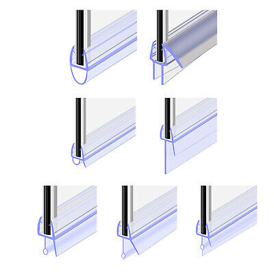 Bath Shower Screen Rubber Door Gap 4-30mm Seal Strip For Glass Thickness 4-6mm • 5.19£