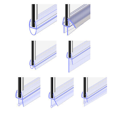 Bath Shower Screen Rubber Door Seal Strip For Glass Gap 4-30mm Thickness 4-6mm • 5.19£