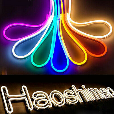 AU11.99 • Buy 12V SMD 2835 Flexible LED Strip Waterproof Sign Neon Lights Silicone Tube 1M-5M