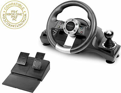 $88.26 • Buy Racing Steering Wheel Pedal Set For Playstation 4 PS4 Xbox One PC NSW