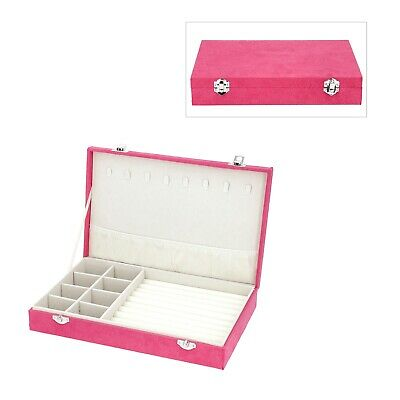 Rose Red Velvet Jewelry Box With Scratch Anti- Tarnish Protection Lining • 19.28£