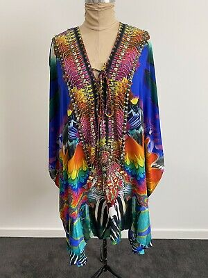 AU212.50 • Buy EUC-Gorgeous Camilla 100% Silk Caftan