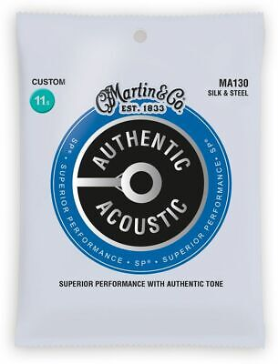$ CDN11.19 • Buy Martin MA130 Silk And Steel Acoustic Guitar Strings