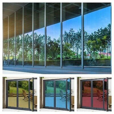 Mirror Reflective One Way Mirror Window Film Privacy Glass Solar Tint • 0.99£