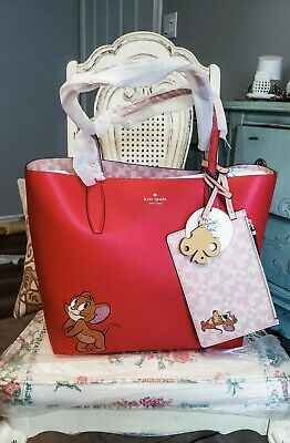 $ CDN275 • Buy Kate Spade New York Tom & Jerry Large Reversible Tote In Red Multi