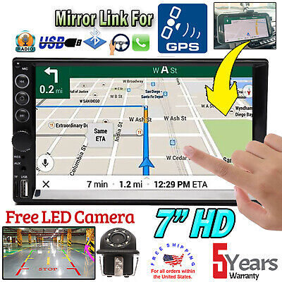 $66.90 • Buy Car 2 Din Stereo Radio BT Mirror Link For GPS +Camera Fit Audi A3 A4 A5 A6 A7 A8