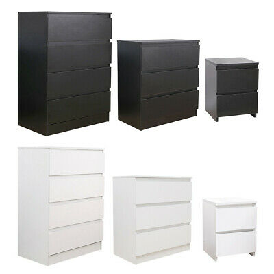 Modern 2/3/4 Chest Of Drawers Bedside Table Nightstand Side Table Bedroom • 28.99£