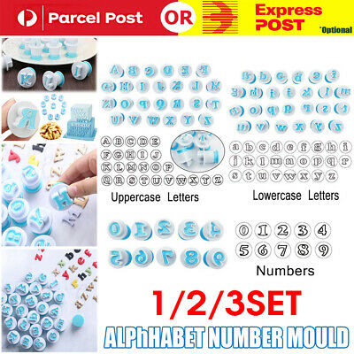 AU16.95 • Buy 26 Alphabet Letter Number Fondant Cake Biscuit Baking Mould Cookie Cutters Stamp