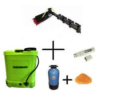 Complete WFP Window Cleaning System GreenMan Backpack & Pure Water  Ready To Use • 299£