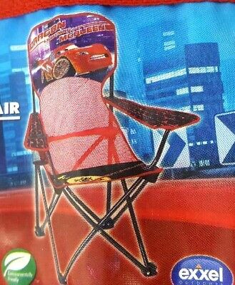 $33.99 • Buy Disney Cars Dragon Lightning McQueen Folding Chair With Armrest And Cup Holder