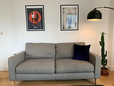 John Lewis Grey 3 Seater Sofa • 78£