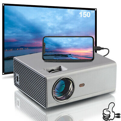 AU599 • Buy 6000 Lumens Home Theater LED Video Projector 1080p FULL HD Projector Screen 100