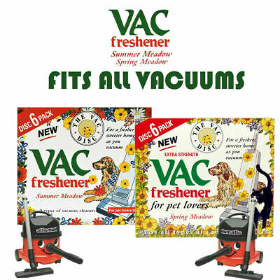 Vac Disc Hoover Vacuum Cleaner Air Freshener Discs For Pet Lovers Home Office • 2.99£