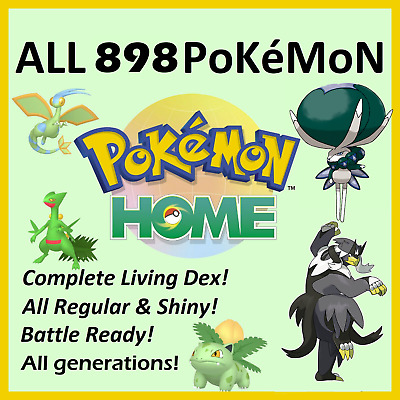 $11.71 • Buy All 2500+ Shiny And No Shiny Pokemon (6IVs) For Home And Sword / Shield (Gen1-8)