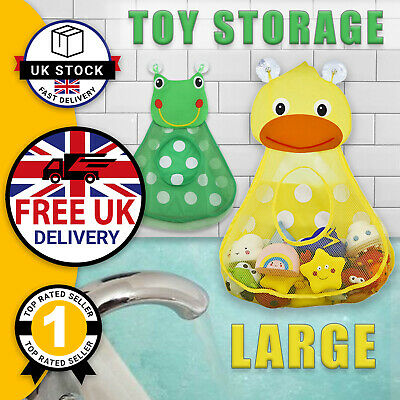 Kids Children's Bath Toy Storage Organiser Fun Tidy Mesh Bag Frog Duck * UK * • 6.29£