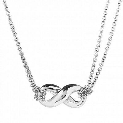 $74 • Buy TIFFANY & CO. Sterling Silver Infinity Pendant Necklace New In Box