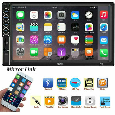 $ CDN54.51 • Buy Double 2DIN Car Stereo MP5 Player 7in Touch Bluetooth USB AUX FM Radio+Remote