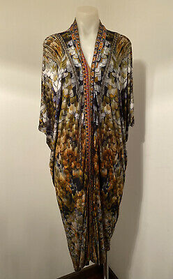 AU101 • Buy Camilla Printed Viscose Stretch Kaftan Style Dress.  Size 12-14
