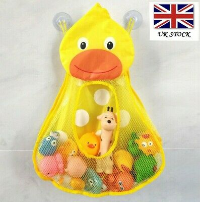 Duck Kids Baby Bath Toy Tidy Bathroom Organiser Mesh Net Storage Holder  • 5.49£